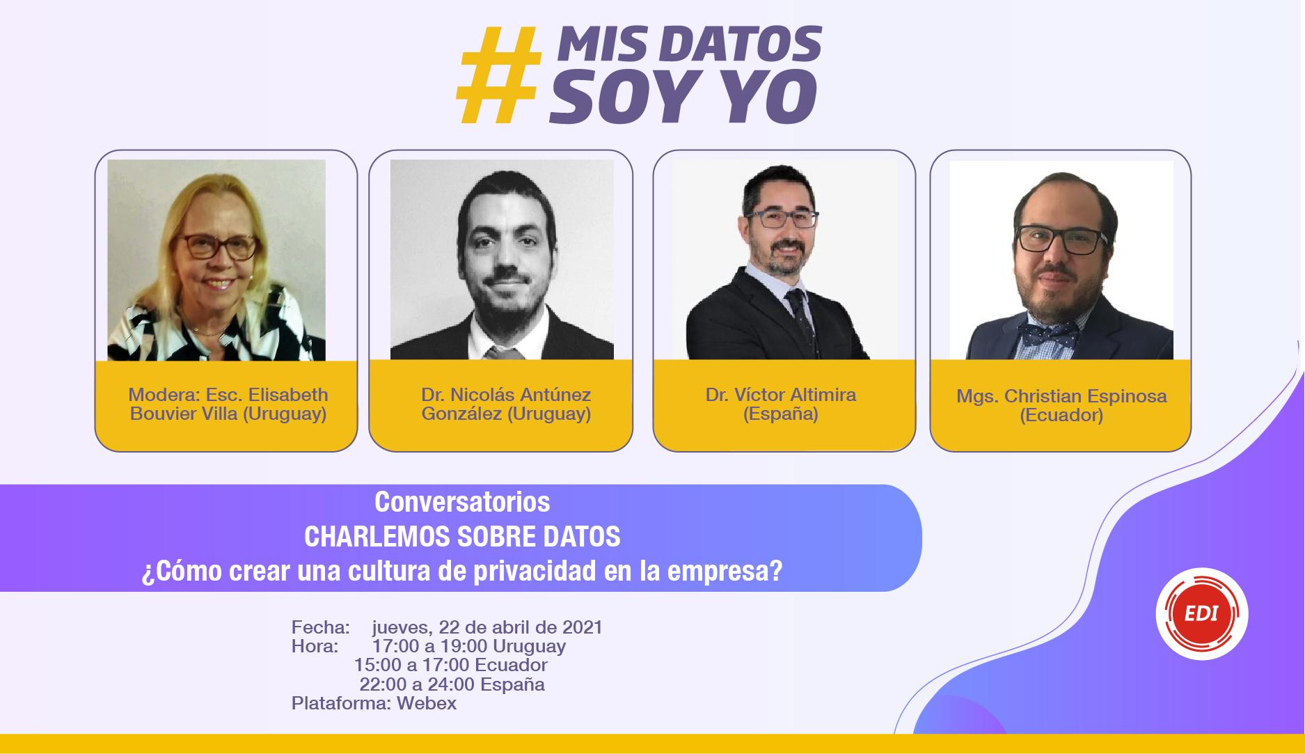Participantes del evento #MisDatosSoyYo
